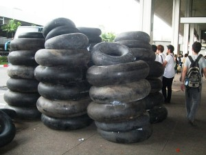 Tyre tubes for floatage